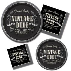 30th 40th 50th 60th Birthday Party Vintage Dude The Man The Legend | eBay
