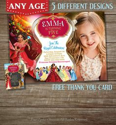 Elena Of Avalor Invitation Invitations By PixelPerfectShoppe Birthday Ideas Anniversary