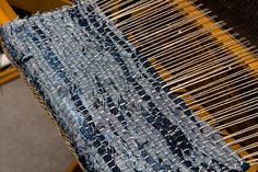 Denim Weaving | remember this when you are done cutting circles out of jeans and have all manner of denim scraps