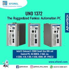 Intel® Celeron® J1900 Small-Size DIN-rail Control PC, 4G DDR3L, 2 GbE, iso. 4 COM, 4 DI, 4 DO, 4 USB, HDMI, DP, TPM2.0