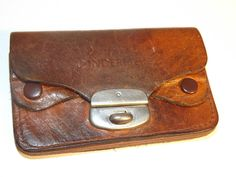 Vintage c 1950s 60 s 5 Compartment Leather Coin Pouch-A Present From Windermere