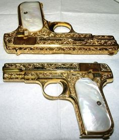 Dual .32s - Sweet! Colt Model 1903 Pocket Hammerless - Gold plated & engraved
