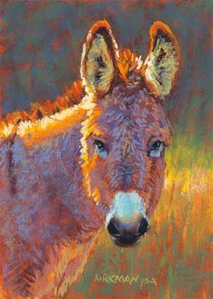 """""""Donna Kiara"""" (pastel, 7x5 inches) click here to bid: http://www.dailypaintworks.com/buy/auction/571271 Time for another Donkey! See progress shots on my blog: https://ritakirkman.blogspot.com/2016/07/donna-kiara.html"""