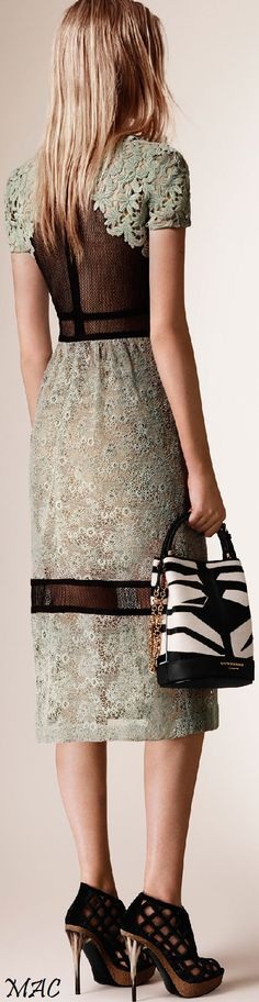 Resort 2016 Burberry Prorsum women fashion outfit clothing style apparel @roressclothes closet ideas