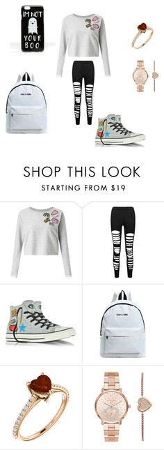 """school outfit"" by meleal on Polyvore featuring Miss Selfridge, Converse, Michael Kors and ASOS"