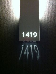Illuminated Room Number signage
