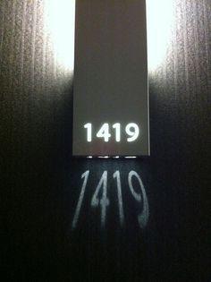 Illuminated Room Number signage