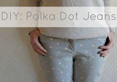 Miss P: DIY: Bleach Polka Dot jeans   http://portialawrie.blogspot.co.uk/2013/03/diy-bleach-polka-dot-jeans.html