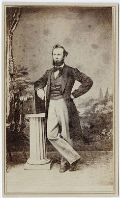 Issac Sherwood Halsey with camera ca 1865 cdv