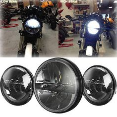 """motorcycle-parts: Motorcycle 7"""" LED Daymaker Headlight Passing Light for Harley Davidson Touring #Motorcycle - Motorcycle 7"""" LED Daymaker Headlight Passing Light for Harley Davidson Touring..."""