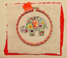 Capricious Arts Hand Embroidered Hoop Art