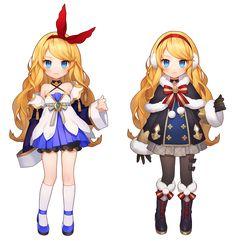 레이나 1대륙 / 2대륙 초기 레이나 일러가 넘 오래돼서 리뉴얼 해본 작업이에요 '~' 이펙터님이 모션도 귀... Female Character Design, Character Design References, Character Design Inspiration, Character Concept, Character Art, Girls Characters, Female Characters, Anime Characters, Manga Comics
