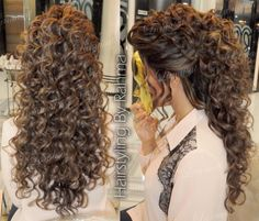 24 Trendy Ideas bridal hairstyles for long hair tutorial updo Curls For Long Hair, Curly Hair With Bangs, Short Wavy Hair, Thin Hair, Curly Hair Styles, Permed Hairstyles, Bridal Hairstyles, Female Hairstyles, Hair Cuts