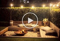 wonderful 43 DIY outdoor fire pits are just what your backyard needs! Small Backyard Design, Small Backyard Landscaping, Fire Pit Backyard, Garden Design, Backyard Ideas, Landscaping Ideas, Entryway Decor, Diy Bedroom Decor, Diy Home Decor