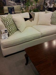 Bassett furniture, Kennedy sofa in steel gray http://microd ...