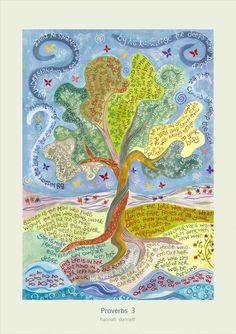Hannah Dunnett Proverbs 3 Greetings Card