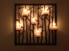 Beautiful new Woodland Light Floor Stand and Sconce. Photo by Myriam St-Jean. #PartyLite #candles
