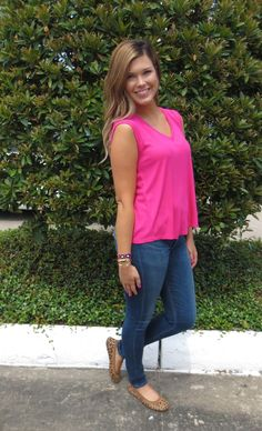 A little #leopard never hurt nobody!  we #love these fun #yosisamra flats with this new #hotpink #heather tee #fcstyle #ootd #frenchcuff