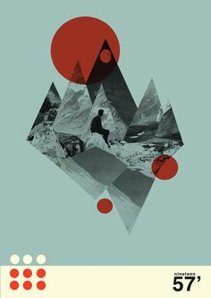 mountain and reflection design