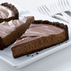 Silky-smooth perfection. Made with a rich chocolate cookie crust and filled with a delicate chocolate mousse, this tart is sure to please.