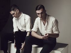 The boys of Hurts, Theo Hutchcraft and Adam Anderson.