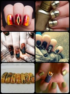 LOTR Lord of the Rings nail art