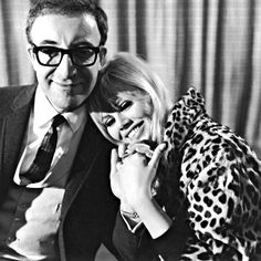 Peter Sellers and Britt Ekland at London Airport a week before their wedding, in February 1964.  Evening Standard/Hulton Archive/Getty Images