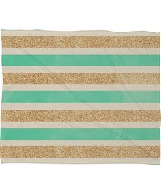 Love this Glitter & Mint Allyson Johnson Fleece Throw Blanket on #zulily! #zulilyfinds