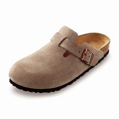 Our original classic boston clog is versatile wardrobe year round. Enjoy the closed-toe comfort and support. Features an adjustable strap for fit. Birkenstock Boston Clog, Birkenstock Arizona, Leather Clogs, Shoe Collection, Taupe, Slip On, Footwear, Unisex, Mens Fashion