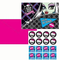 Monster High Birthday Party Invitations 8ct