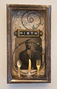 TINY DELICACIES 1 - Assemblage  by Rosemarie Hughes