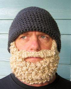Crochet PATTERN Beard Hat PATTERN Beanie