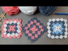 bu muhteşem motif modeline bayılacaksınız / örgü modelleri - YouTube Zig Zag Crochet, Crochet Stitches Free, Knitting Stiches, Crochet Squares, Baby Knitting Patterns, Crochet Motif, Crochet Patterns, Diy Roman Shades, Crochet Fashion
