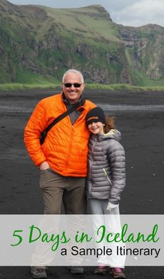 5 Days in Iceland -- a sample Iceland itinerary with stops in Reykjavik, Seljalandfoss, Skogafoss, Dyrhaloey, Vik, Jokursarlon, The Golden Circle, dog sledding, glacier hiking and more.
