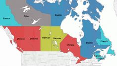 Most common second language of Canadian Provinces & Territories