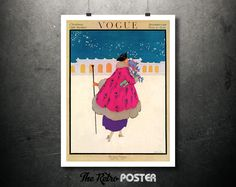 Fashion - Vogue - Christmas Gifts Number - December 1916 - Fashion Poster Vintage, Vogue Print, Vogue Poster, Vogue Cover, Fashion Art by TheRetroPoster on Etsy