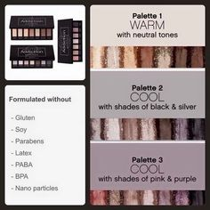 Pallet collections, great colors, lasting non creasing colors!  www.yourrockinglashes.com