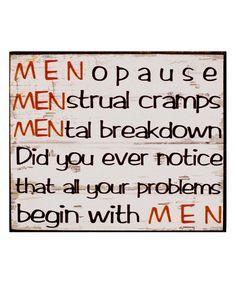 'Men' Wall Sign | zulily
