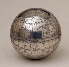 Terrestrial and celestial pocket globe - National Maritime Museum