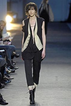 Ann Demeulemeester » Spring 2007 rtw __ note the double layer at the pant bottoms