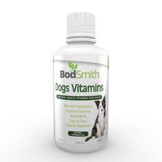 BodSmith Liquid Dog Vitamins all natural blend providing the crucial nutrients dogs need for optimum health. Necessary vitamins, minerals, herbs, essential fatty acids, trace minerals, amino acids and digestive enzymes, plus Ester-C and Coenzyme Q10. *** For more information, visit now : Dog Health Supplies