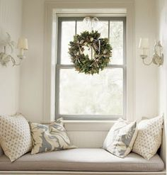 Cosy window seat recess in soothing colours...tim-street-porter-wreath.jpg (305×320)