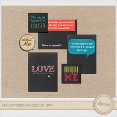 Free Life Captured Journal Cards from the DigiChick {on Facebook}