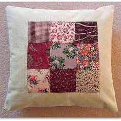 7bace48cd Vintage style patchwork cushion cover 35cm Applique Cushions