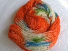 ♥ Sockenwolle 100g ♥ Schurwolle 75% ♥ Handgefärbt ♥ Made by Aleinung ♥ (108)