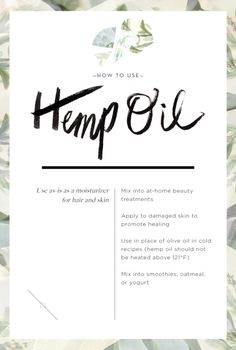 Wellness Encyclopedia: Why We Love Hemp Oil + 1-Ingredient Beauty Tricks | Free People Blog #freepeople
