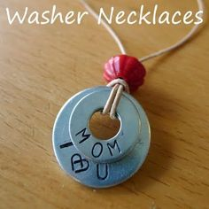 metal stamped washer necklaces #stamp #metalstamp #jewelry #necklace #washer
