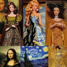 osama bin lafen: Mattel Releases New Fine Art Dolls. The DaVinci, Van Gogh & Klimt Barbies.