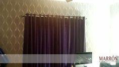 Papel Tapiz y Cortina #MD #Marrón #Cortina #PapelTapiz #Wallpaper #Diseño