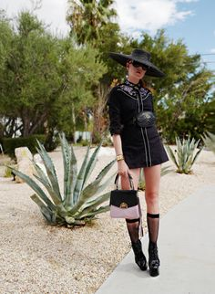 The wardrobe of Ms. B: Palm Springs cowboy